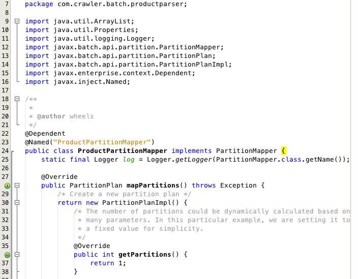 Java EE Batch Framework – Step 5 Partition Mapper | Wheels